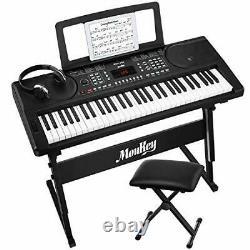 Moukey Mek-200 Clavier Électrique Portable Piano Clavier Music Kit Avec Support