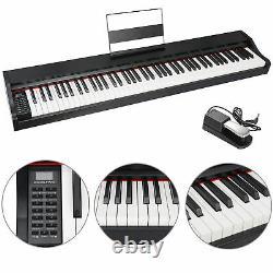 Musique Clavier Électronique Electric Digital Piano 88 Key Black Avec Haut-parleurs