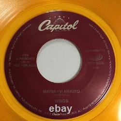 Paul Mccartney & Wings Peut-être Que Je Suis Amazed / Band On The Run 45 Promo Gold Mint
