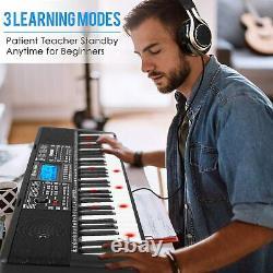 Piano De Musique Numérique 61-key Keyboard Portable Electronic Musical Instrument Us