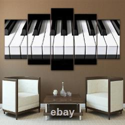 Piano Keys Keyboard Musique 5 Pièces Toile Wall Art Picture Cadeau Maison Décor
