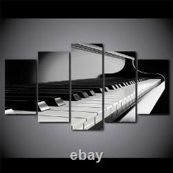 Piano Keys Musical Keyboard Instrument 5 Panneau Canvas Print Wall Art Home Décor