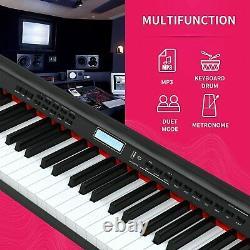 Piano Numérique 88 Clés Clavier Électrique Piano Avec Support Musical Pour Débutant