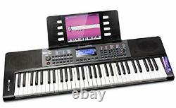 Rockjam Rj461 61 Keyboard Piano Avec Pitch Plend Partition Stand Piano Note