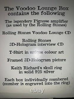 Rolling Stones-voodoo Lounge Box Pignoseamp- Ring #441de 500 Editions Limitéesetc