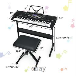 Set Musical De 61 Clés Pour Clavier Électronique Piano Starter Avec Écouteurs De Banquette