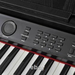 Vidaxl 88-key Digital Piano With Pedals Black Melamine Board Keyboard Music