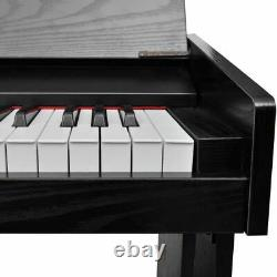 Vidaxl Classic Electronic Digital Piano Avec Clavier 88 Touches Et Support Musical