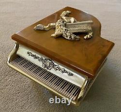 Vintage Grand Piano Boîte À Musique Thorens Swiss Gold Glit Piano Avec Clavier Bakelite