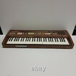 Vtg Casiotone 701 (ct-701) Synthétiseur De Clavier Pour Piano Électronique Organe En Bois