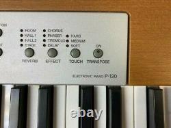 Yamaha P-120 Clavier Pour Piano Électronique Avec Pédale, Support De Musique, Tabouret, Couvercle De Poussière