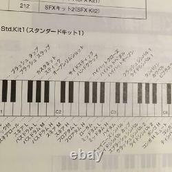 Yamaha Piano Électronique MIDI Clavier Avec Adaptateur De Support De Musique Manuel